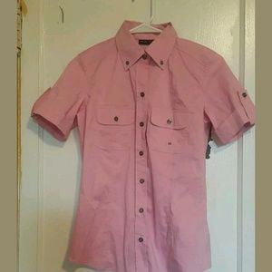 $27 NWT New York & Company Womens Shirt pink Sz XS